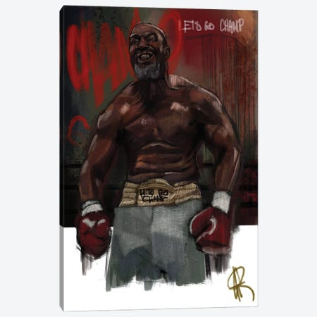 Let's Go Champ Canvas Print #GRW21} by Gordon Rowe Canvas Wall Art