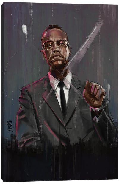Malcolm X Canvas Art Print