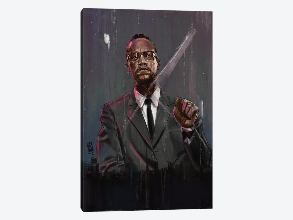 Malcolm X by Gordon Rowe 1-piece Canvas Wall Art