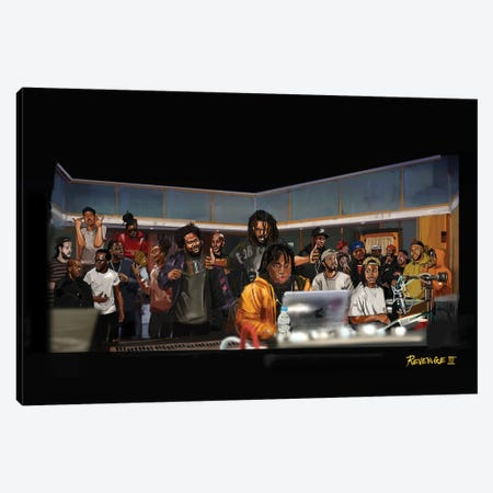 Rap Camp Canvas Print #GRW36} by Gordon Rowe Canvas Art
