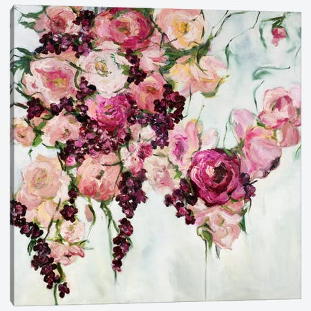 Rose Cascada Canvas Print #GSB17} by Gaby Silva Bavio Canvas Wall Art