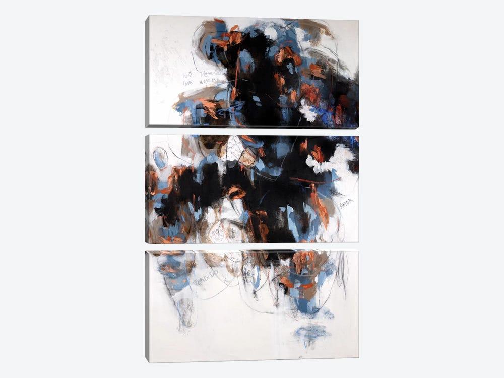 Lost Love by Gaby Silva Bavio 3-piece Canvas Art