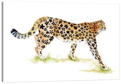 Cheetah Flower Pattern Canvas Art Print