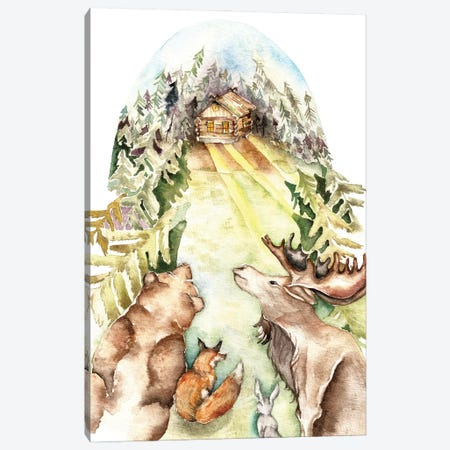 Forest Animals Canvas Print #GSI24} by Goosi Canvas Art