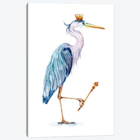 Royal Blue Heron Canvas Print #GSI52} by Goosi Canvas Artwork