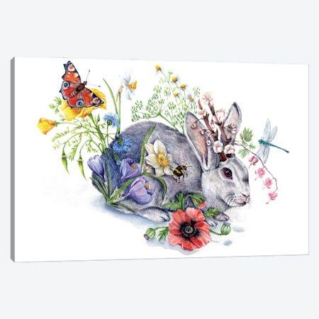 Spring Jackalope Canvas Print #GSI62} by Goosi Canvas Print