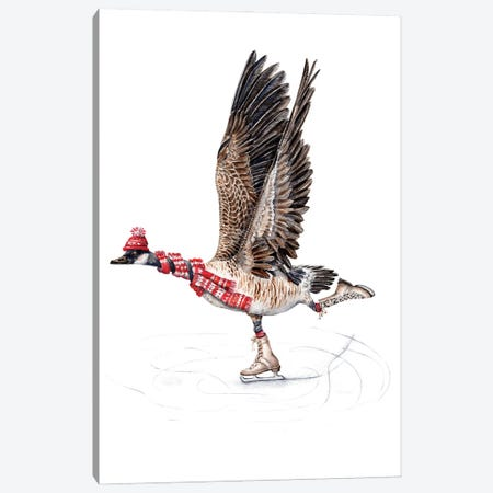 Canada Goose Figure Skating Canvas Print #GSI9} by Goosi Canvas Art