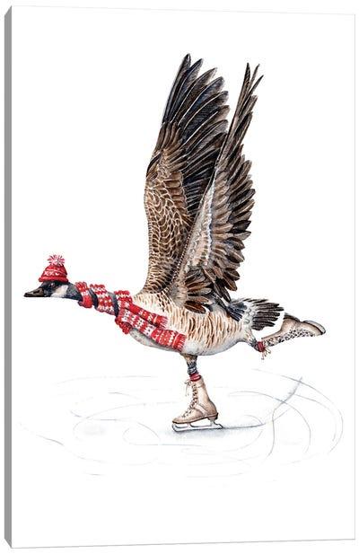 Canada Goose Figure Skating Canvas Art Print