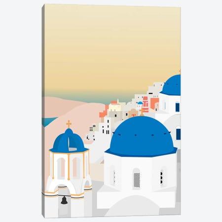 Travel Europe--Santorini Canvas Print #GSO11} by Gurli Soerensen Canvas Wall Art