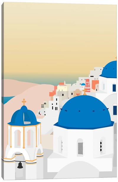 Travel Europe--Santorini Canvas Art Print