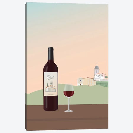 Tuscan Wine I Canvas Print #GSO15} by Gurli Soerensen Art Print