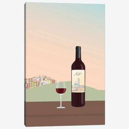 Tuscan Wine II Canvas Print #GSO16} by Gurli Soerensen Canvas Print