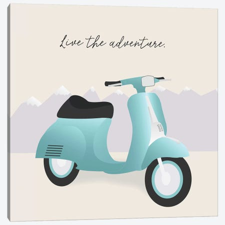 Two-Wheel Travel II Canvas Print #GSO18} by Gurli Soerensen Canvas Wall Art