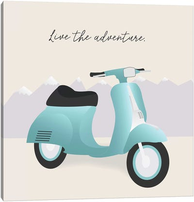Two-Wheel Travel II Canvas Art Print