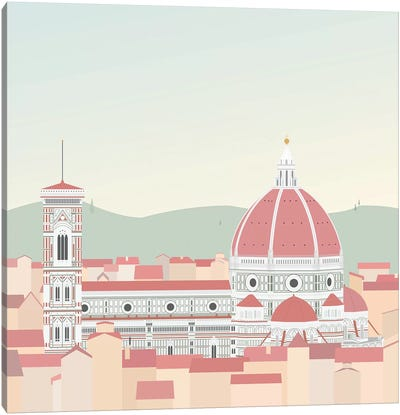 Travel Europe--Firenze Canvas Art Print