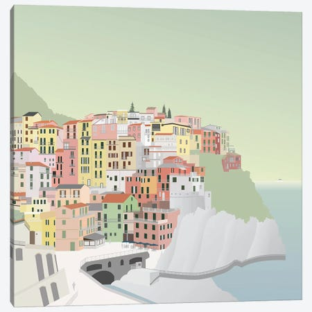 Travel Europe--Manarola Canvas Print #GSO4} by Gurli Soerensen Canvas Art Print