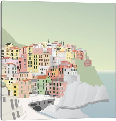Travel Europe--Manarola Canvas Art Print