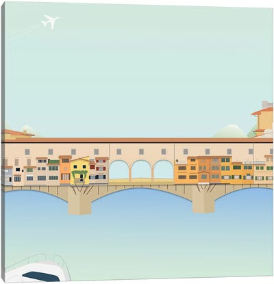 Travel Europe--Ponte Vecchio Canvas Art Print