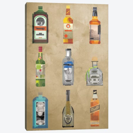 Liquor Bottles Canvas Print #GSP14} by 5by5collective Canvas Art