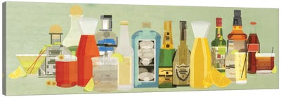 Classic Cocktails Pano Canvas Art Print