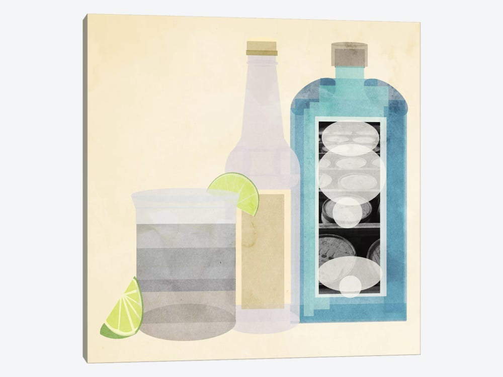 Gin & Tonic by 5by5collective 1-piece Canvas Art Print