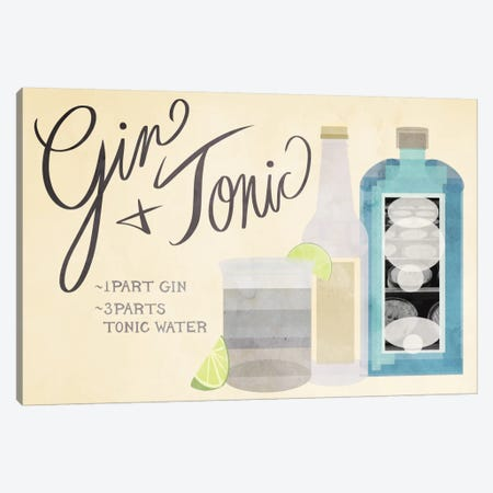 How to Create a Gin & Tonic Canvas Print #GSP19} by 5by5collective Art Print