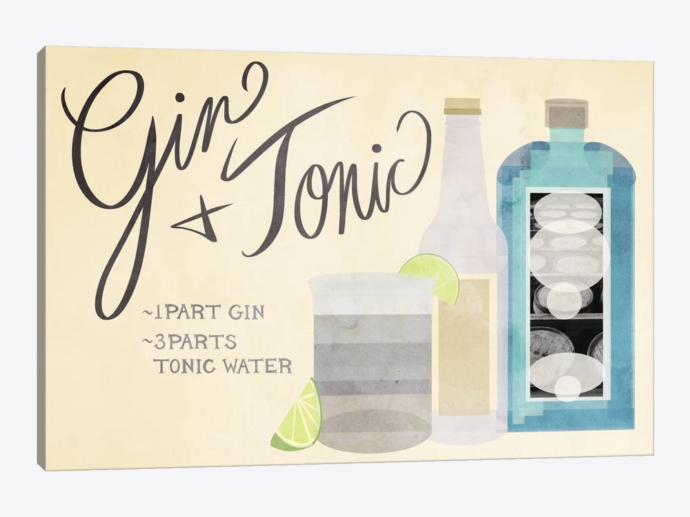 How to Create a Gin & Tonic by 5by5collective 1-piece Canvas Art