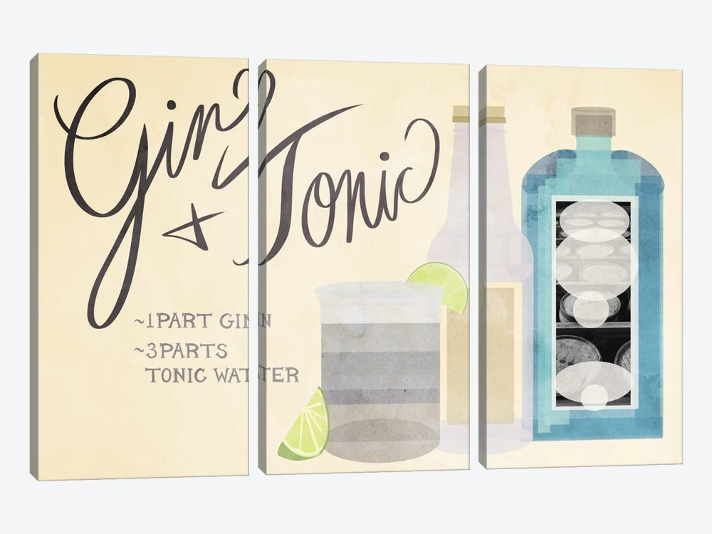 How to Create a Gin & Tonic by 5by5collective 3-piece Canvas Art