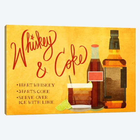 How to Create a Whiskey & Coke Canvas Print #GSP21} by 5by5collective Canvas Wall Art