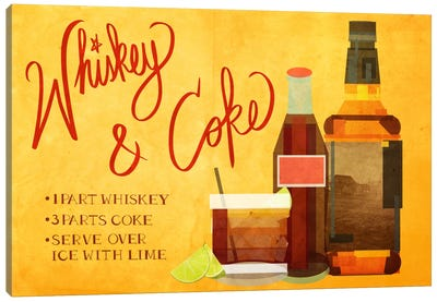 How to Create a Whiskey & Coke Canvas Print #GSP21