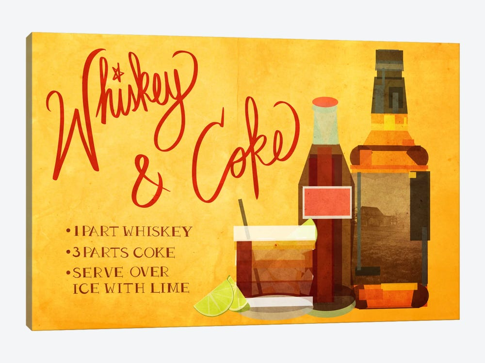 How to Create a Whiskey & Coke by 5by5collective 1-piece Art Print