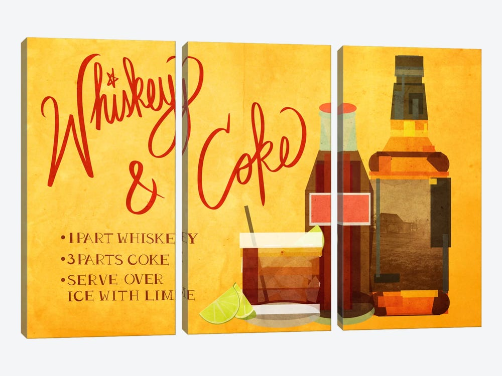 How to Create a Whiskey & Coke by 5by5collective 3-piece Art Print