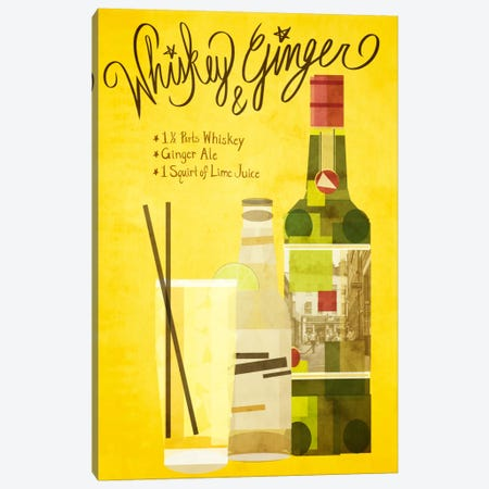 How to Create a Whiskey & Ginger Canvas Print #GSP22} by 5by5collective Canvas Wall Art