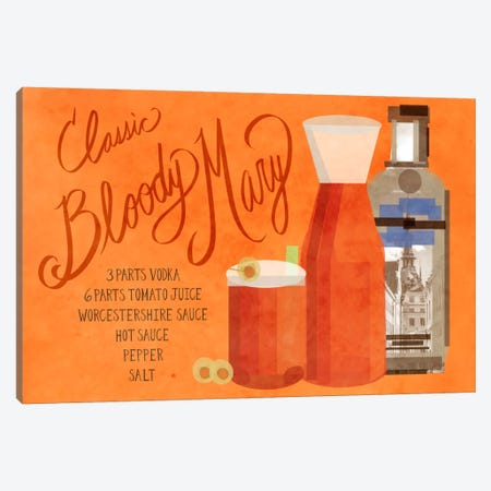 How to Create a Classic Bloody Mary Canvas Print #GSP23} by 5by5collective Canvas Wall Art