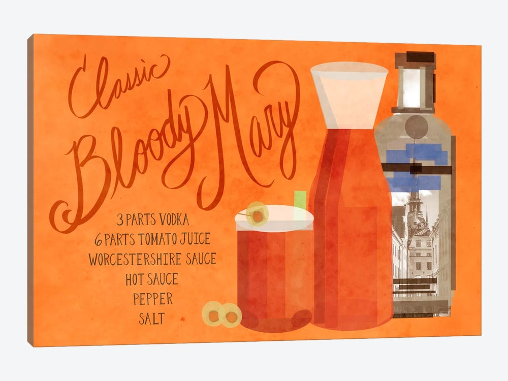 How to Create a Classic Bloody Mary by 5by5collective 1-piece Canvas Print