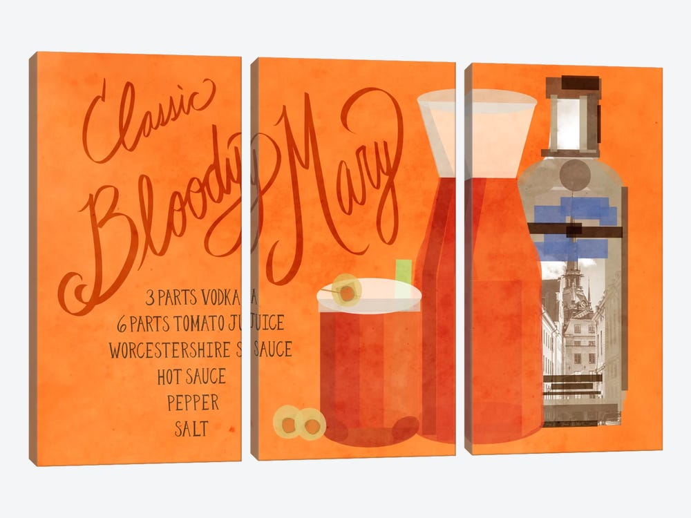 How to Create a Classic Bloody Mary by 5by5collective 3-piece Canvas Print