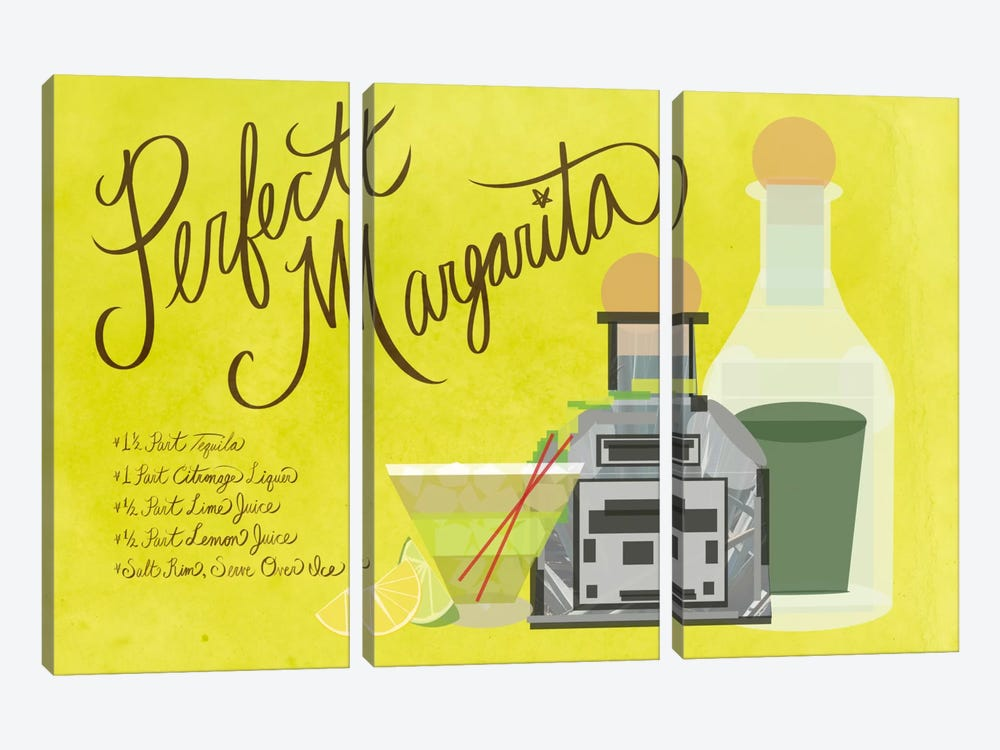 How to Create the Perfect Margarita by 5by5collective 3-piece Canvas Art