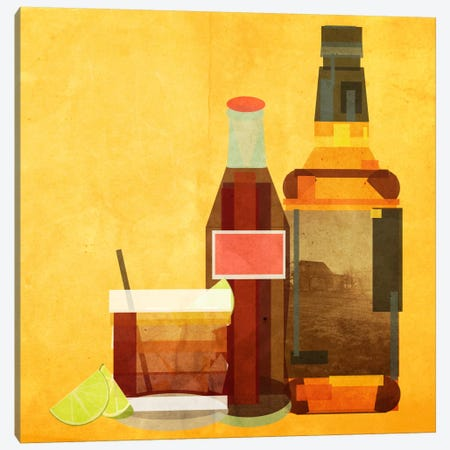 Whiskey & Coke Canvas Print #GSP30} by 5by5collective Canvas Art Print