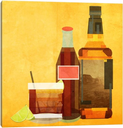 Whiskey & Coke Canvas Art Print