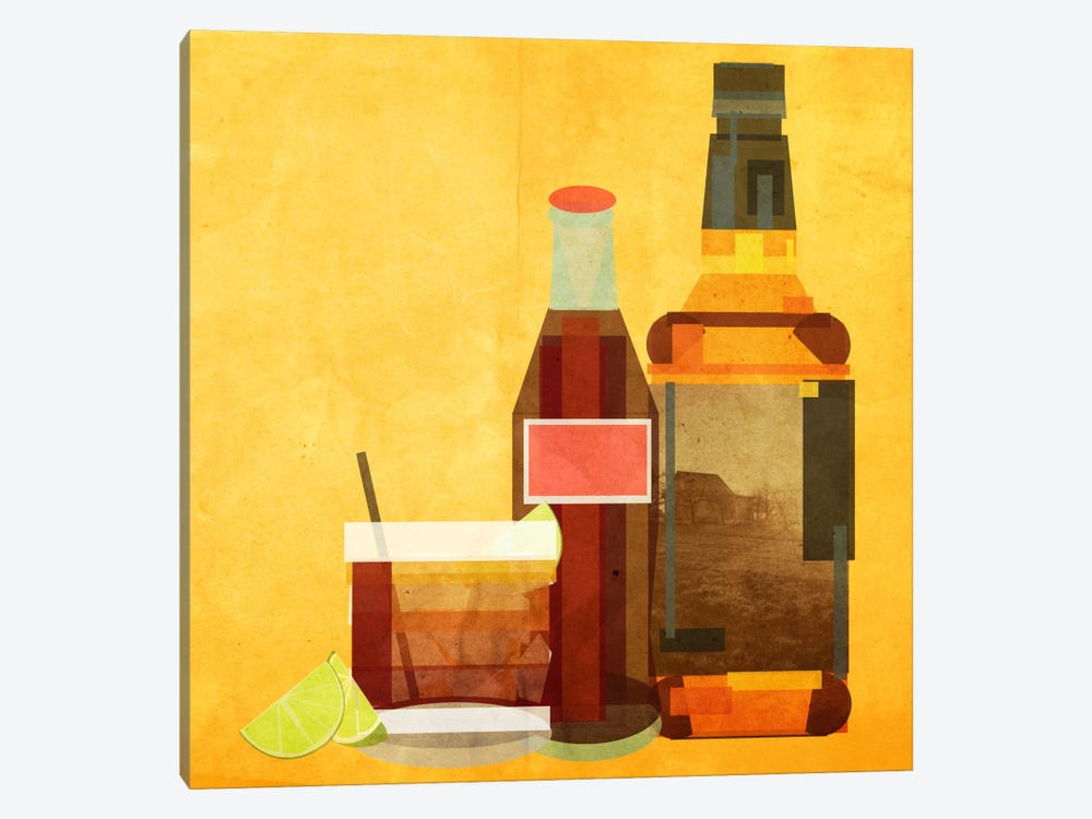 Whiskey & Coke by 5by5collective 1-piece Canvas Print