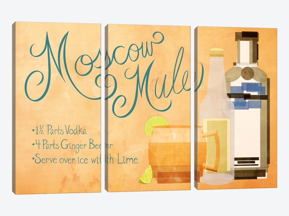 How to Create a Moscow Mule by 5by5collective 3-piece Canvas Art
