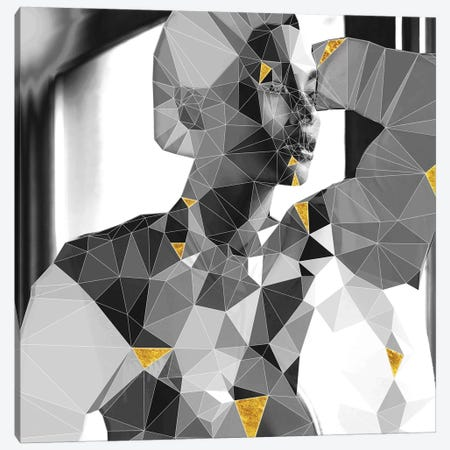 Lady Geo Canvas Print #GSS12} by 5by5collective Canvas Wall Art