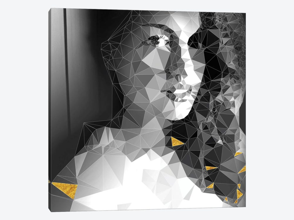 She Is Looking Through The Glass by 5by5collective 1-piece Canvas Art Print