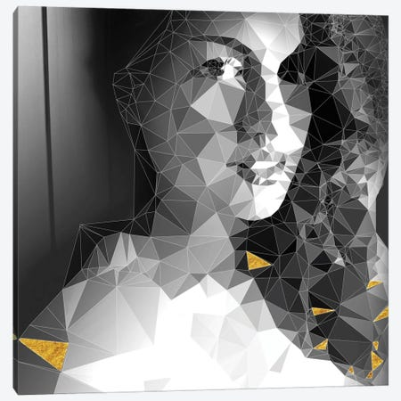 She Is Looking Through The Glass Canvas Print #GSS14} by 5by5collective Canvas Art Print