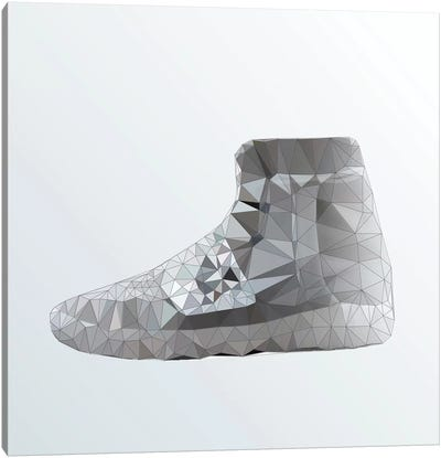 Yeezy 750 Boost: Grey Canvas Art Print