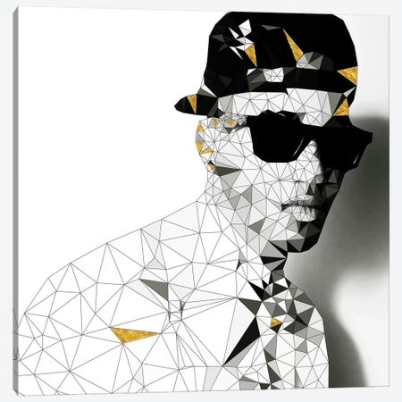 Stunna Shades In Black And White Canvas Print #GSS21} by 5by5collective Canvas Print