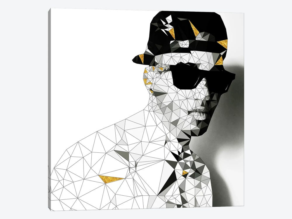 Stunna Shades in Black and White by 5by5collective 1-piece Canvas Print