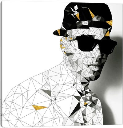 Stunna Shades In Black And White Canvas Art Print