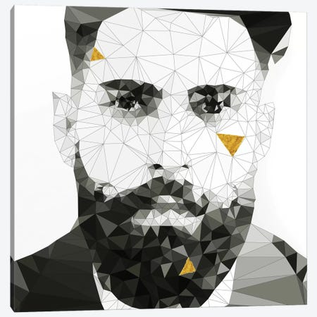 Geo Beard In Black And White Canvas Print #GSS22} by 5by5collective Canvas Art Print