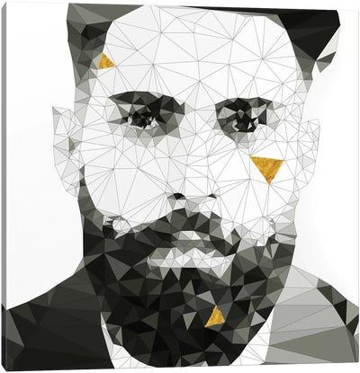 Geo Beard In Black And White Canvas Art Print